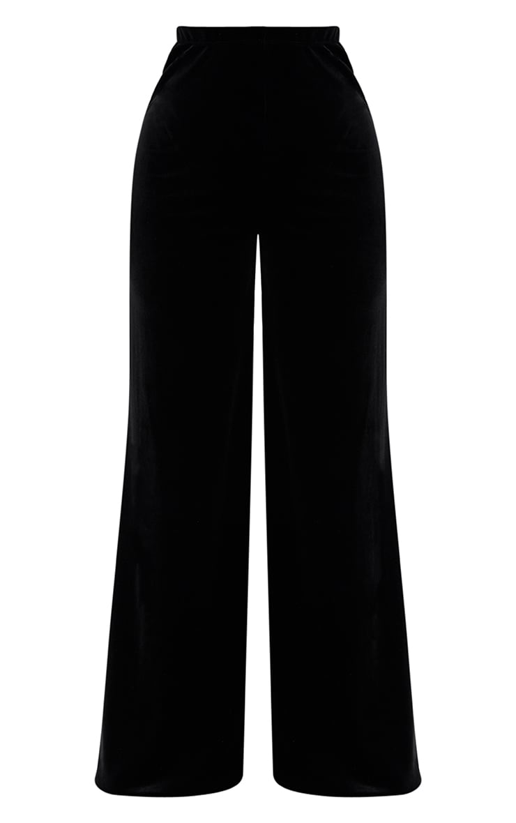 Shape Black Velvet Wide Leg Pants 3