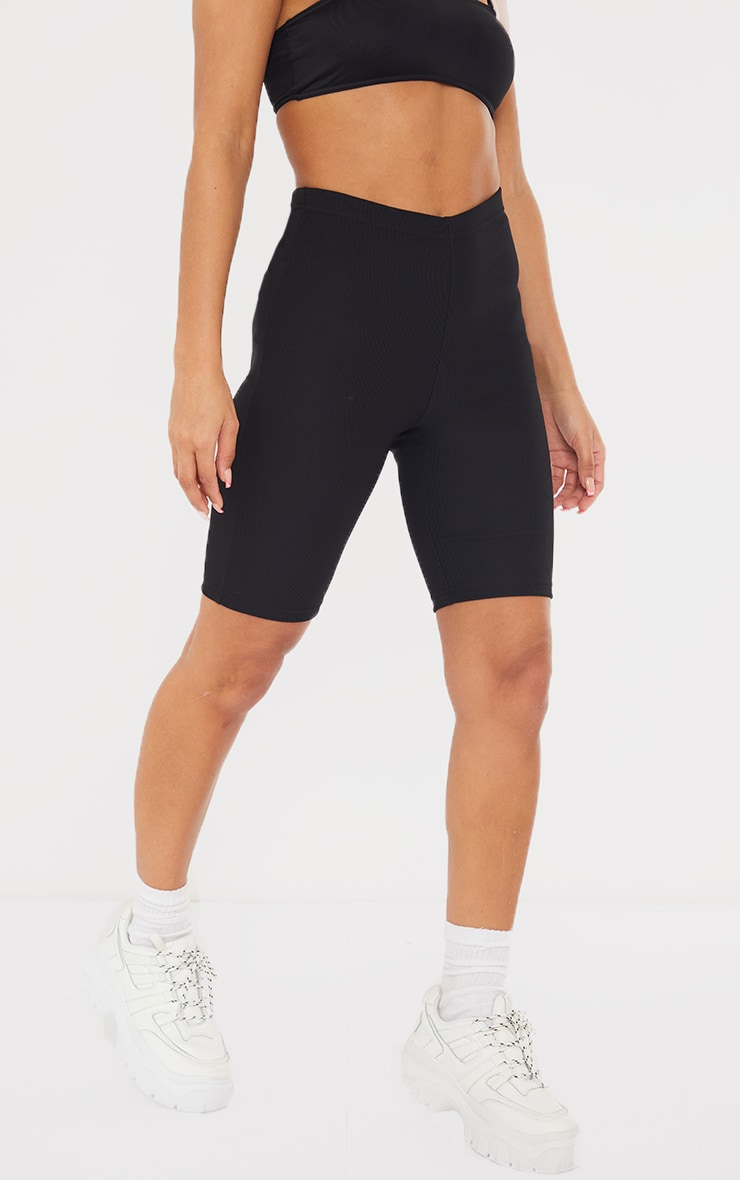 Black Power Stretch Rib Cycle Shorts 2