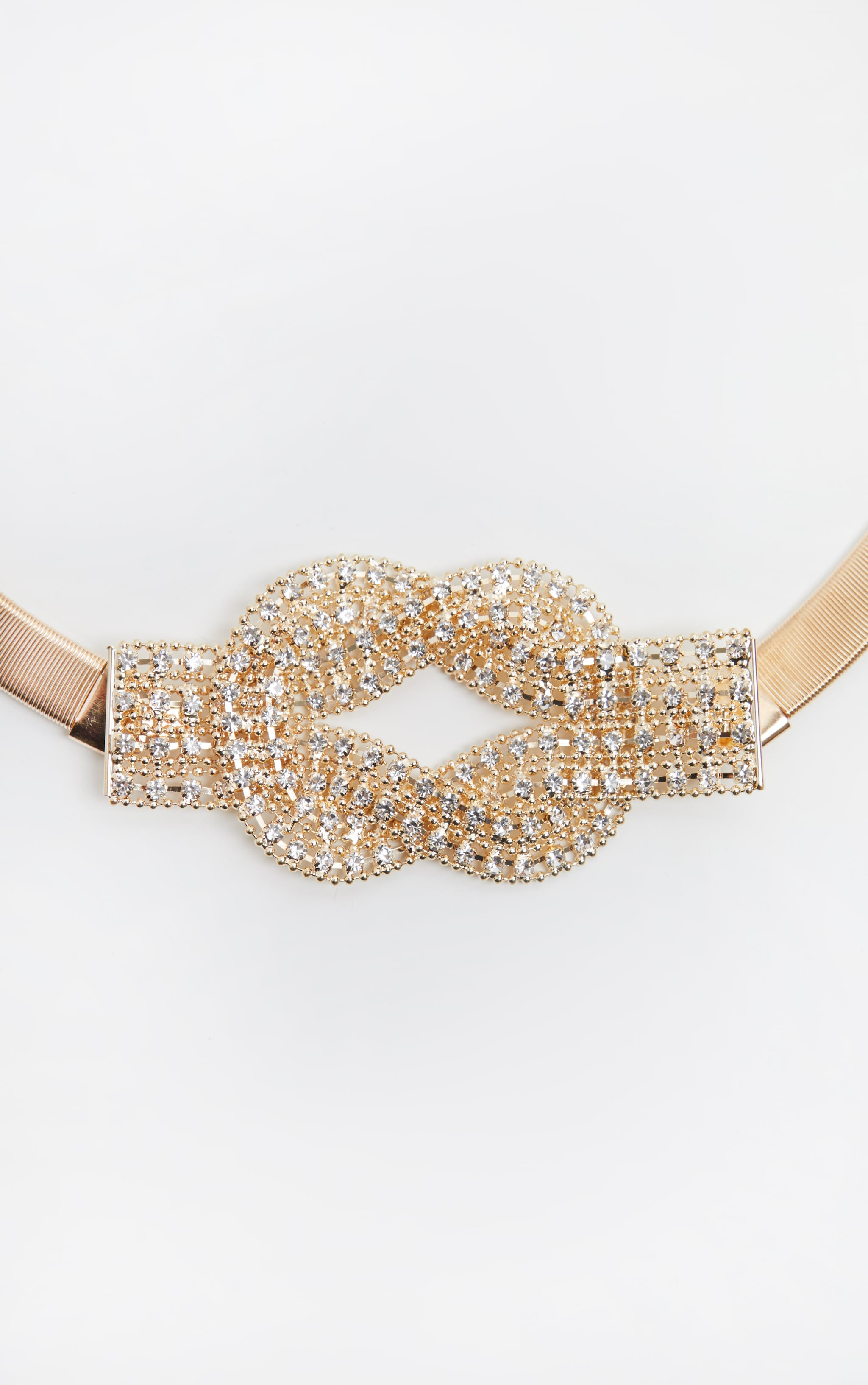 Gold Diamante Statement Belt 3
