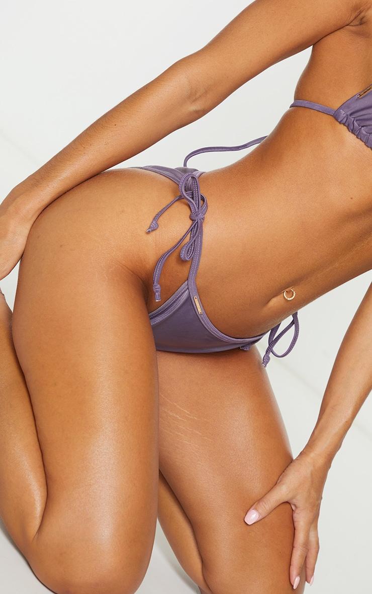 Aubergine Mix & Match Tie Side Bikini Bottoms 4