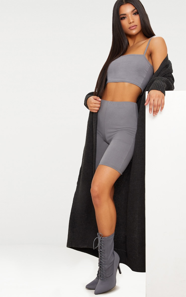 Long cardigan anthracite 1