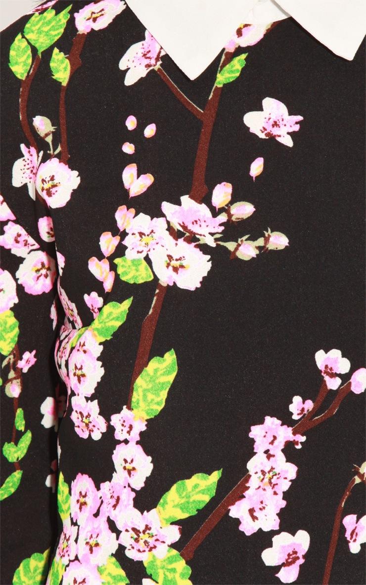 Alanah Orchid Print Collar Dress 5