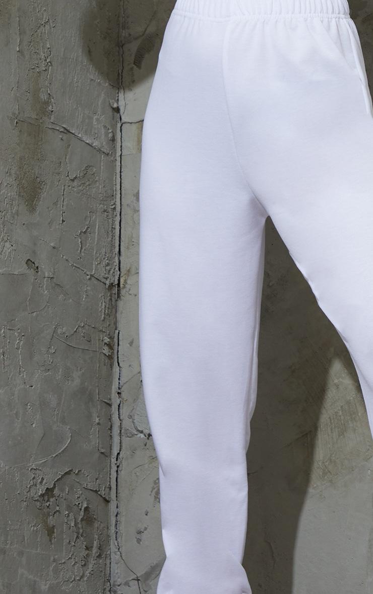 Petite White Basic Cuffed Joggers 4