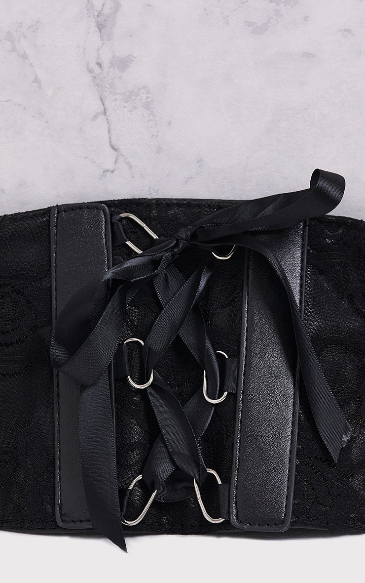 Mista Black Corset Style Belt 5