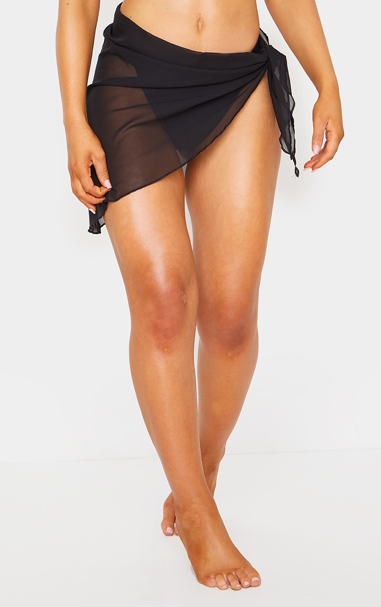 Black Tie Side Sarong 2
