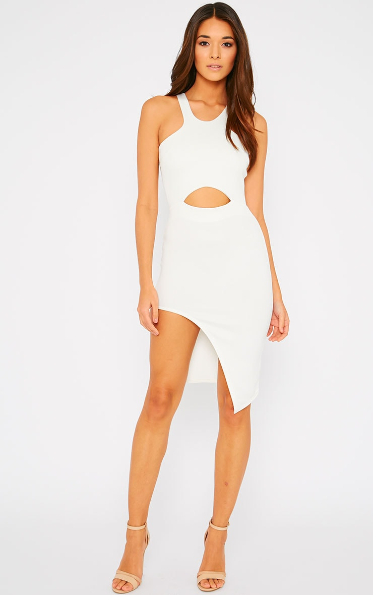 Sydney Cream Cut Out Curve Split Dress 4