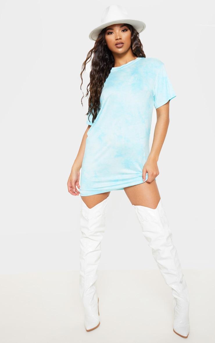 Blue Tie Dye T Shirt Dress 4
