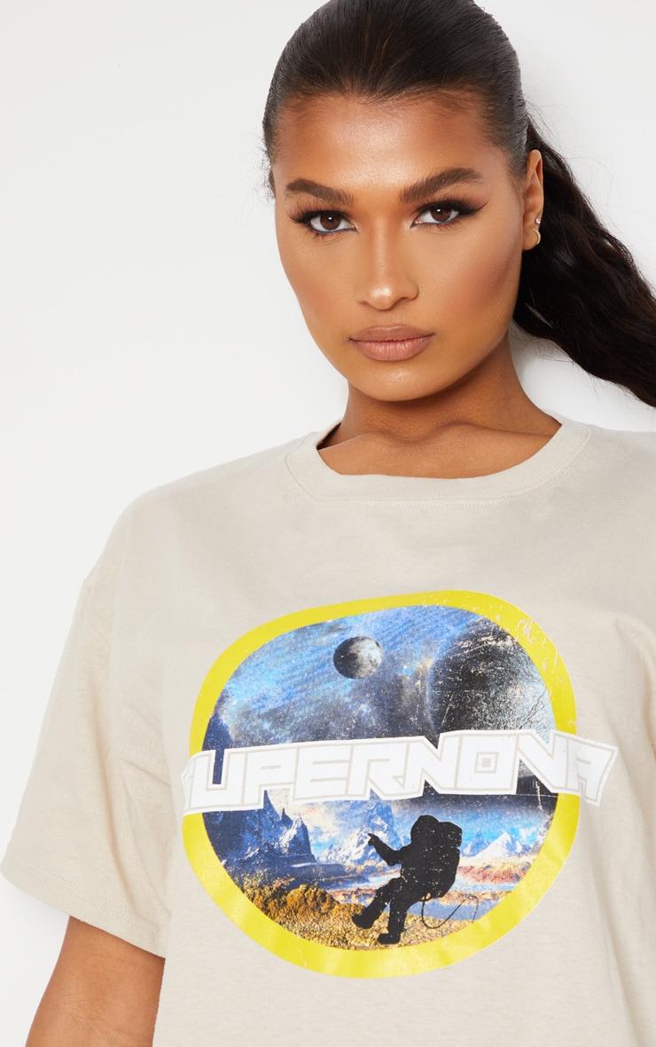 Stone Supernova Print Oversized T Shirt 1
