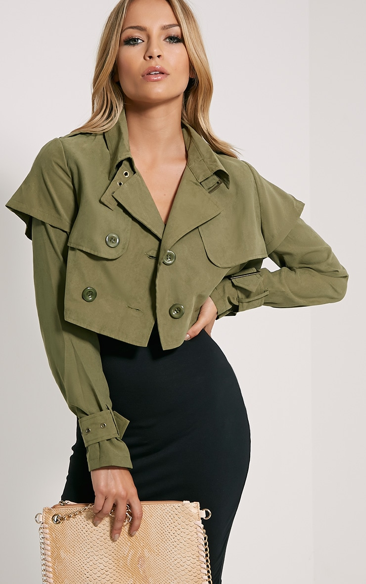 Addison Khaki Cropped Mac 1