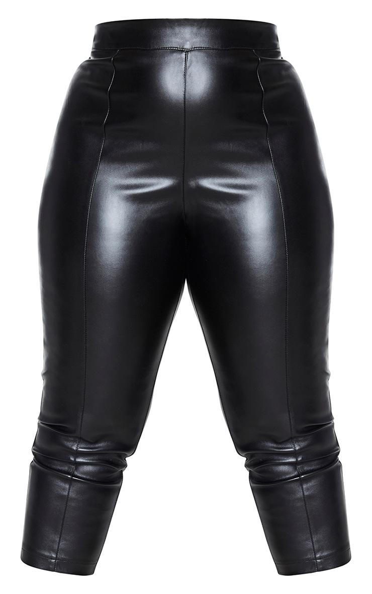 Plus Daysha Black Cropped Faux Leather Pants 5