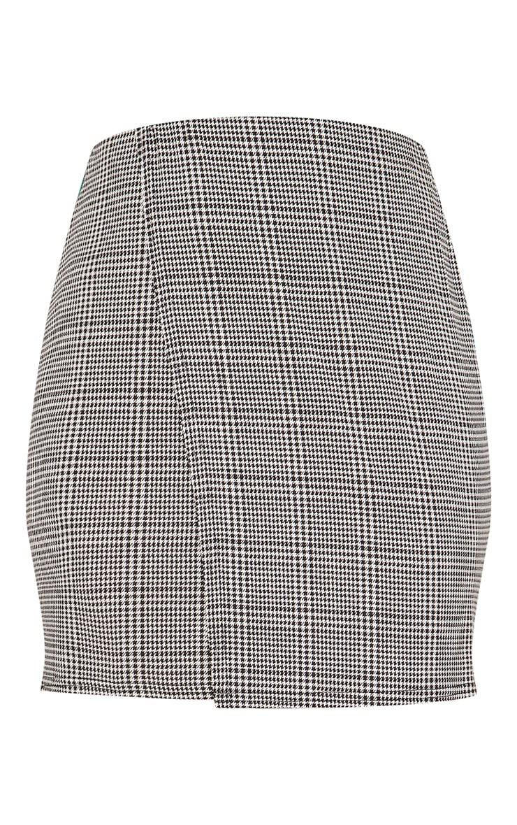 Black Check Wrap Panel Side Stripe Skirt 3