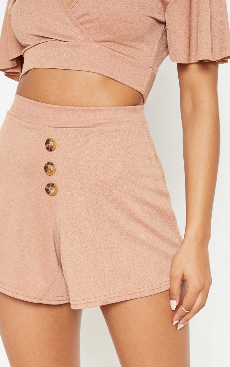 Sand Button Detail Shorts 6