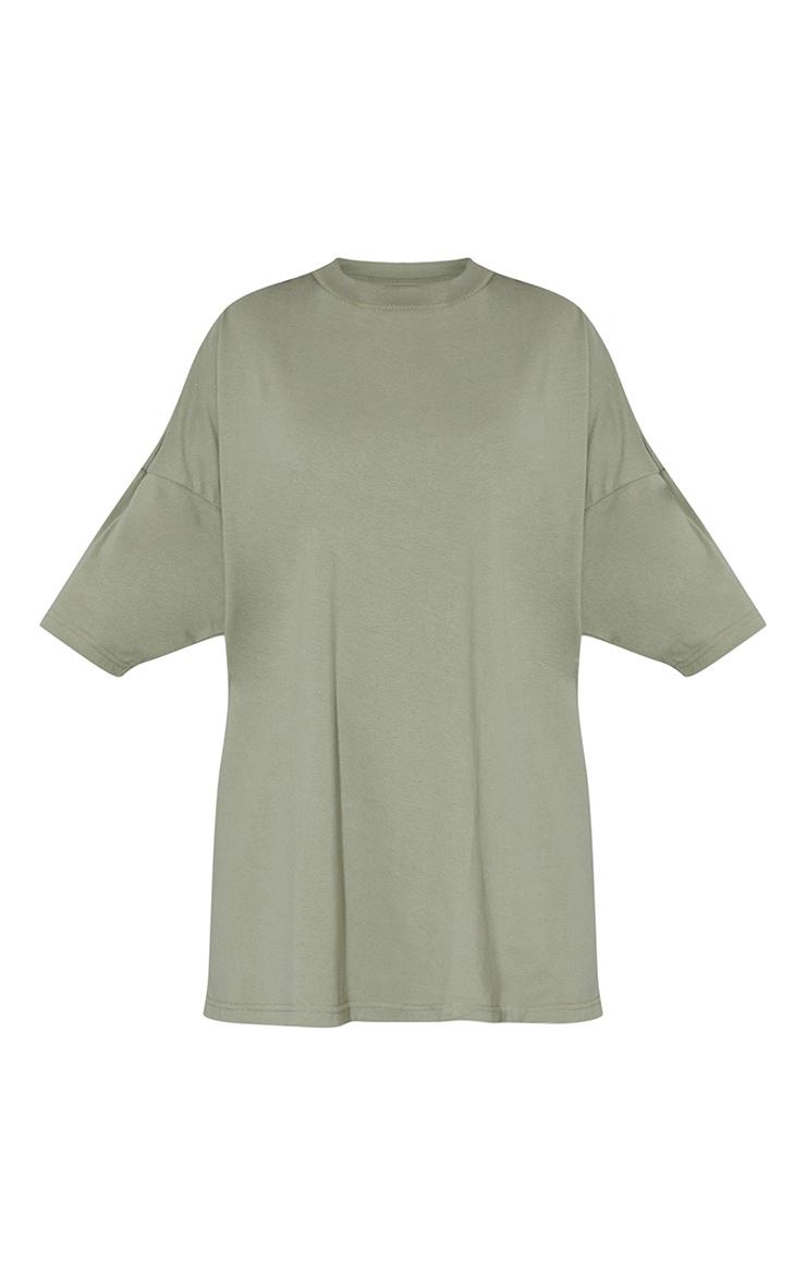 Sage Green Tokyo Japan Slogan Short Sleeve T Shirt Dress 5