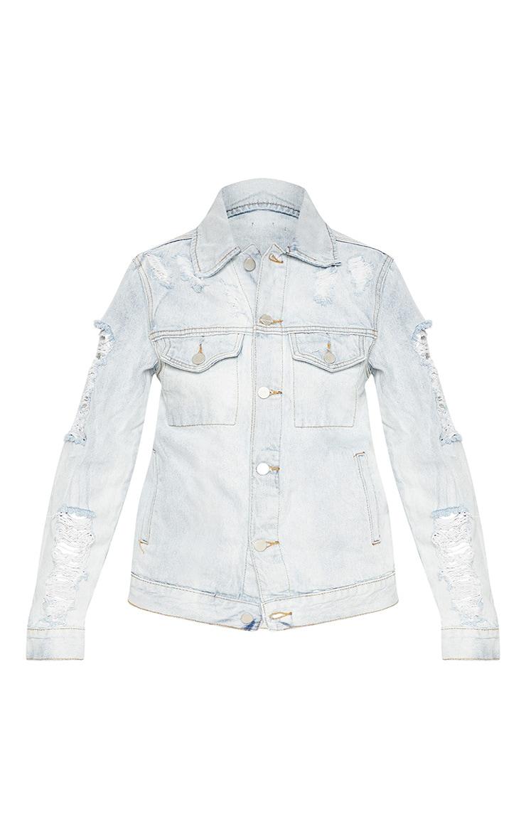 Bleach Wash Denim Jacket  3