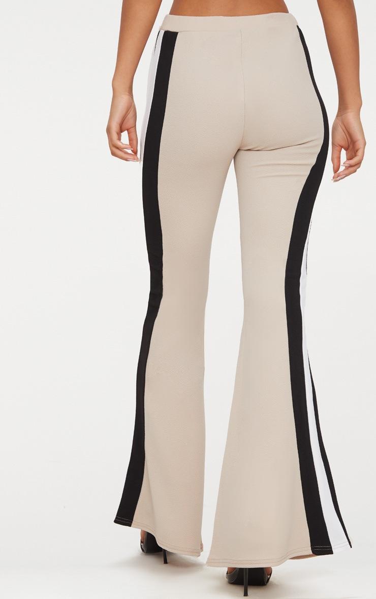 Stone Sport Stripe Flared Trouser  4