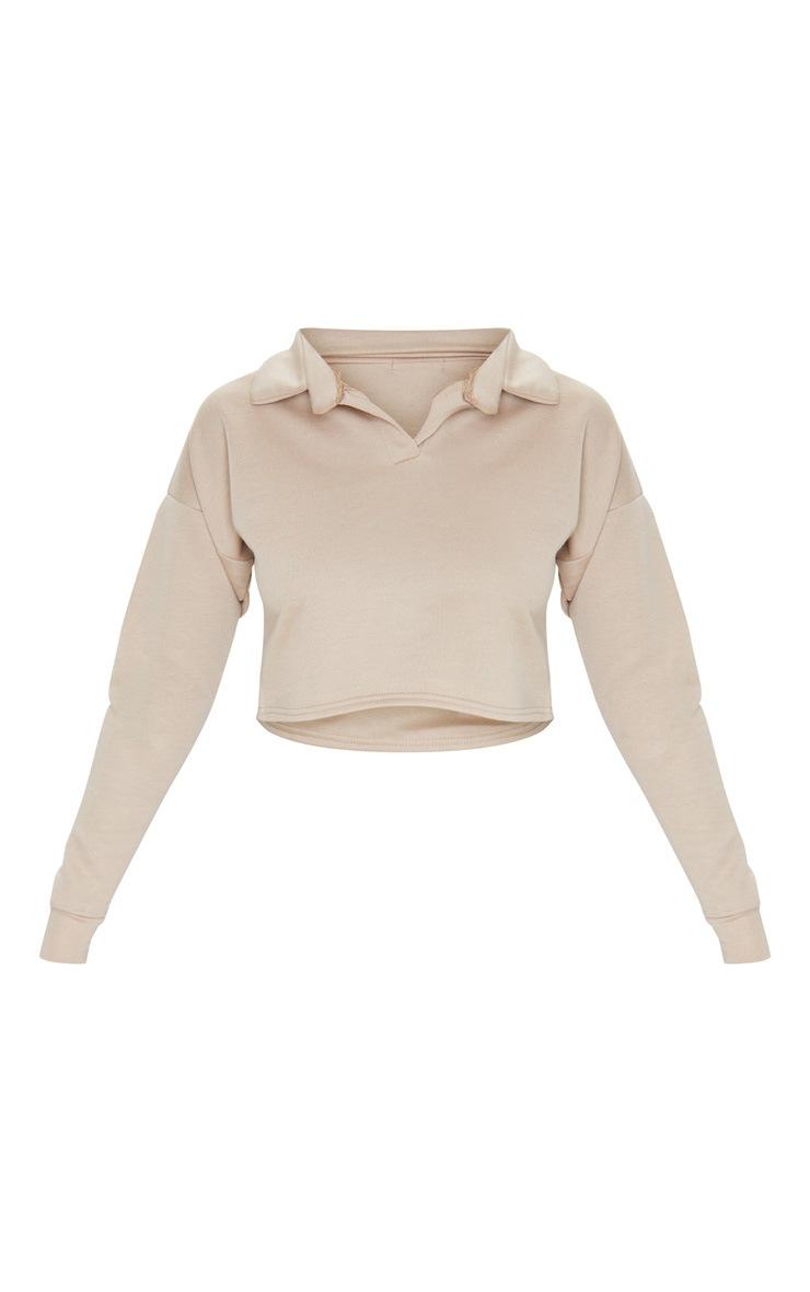 Stone Collar Polo Long Sleeve Crop Top 5