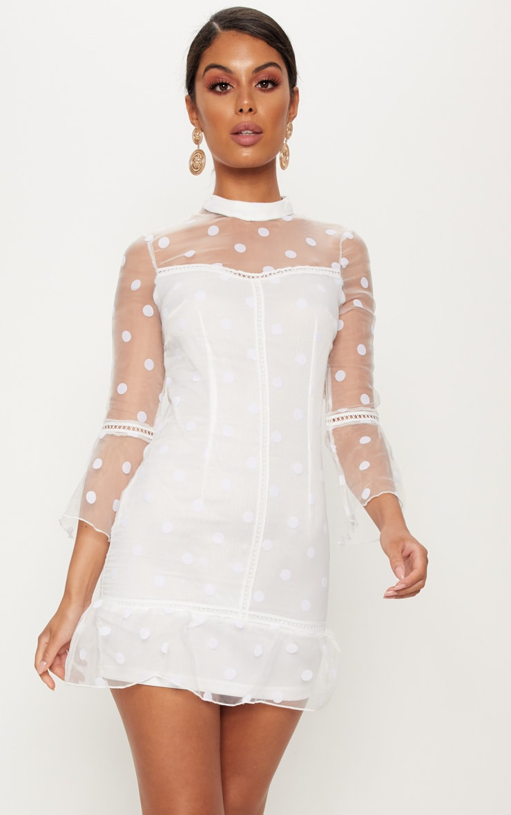 White Mesh Cocktail Dresses
