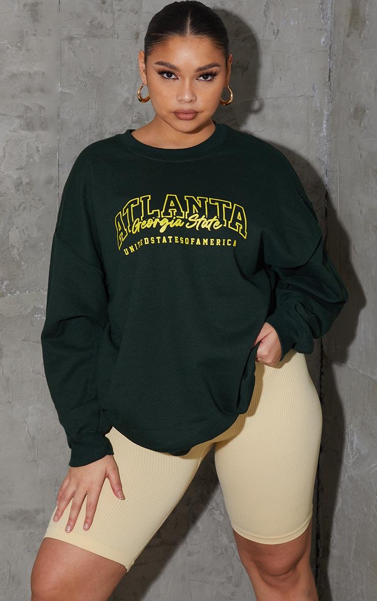 Plus Green  Atlanta Slogan SweatShirt 3