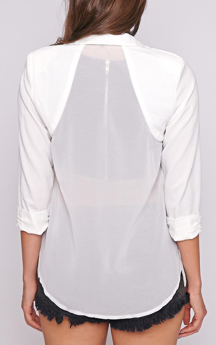 Laila White Mesh Back Blazer  2