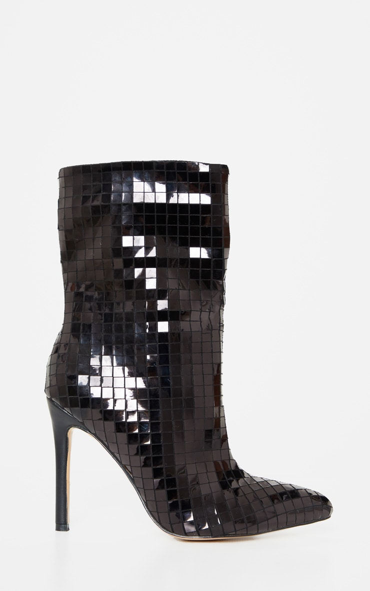 Black Disco Ball Ankle Boot 3