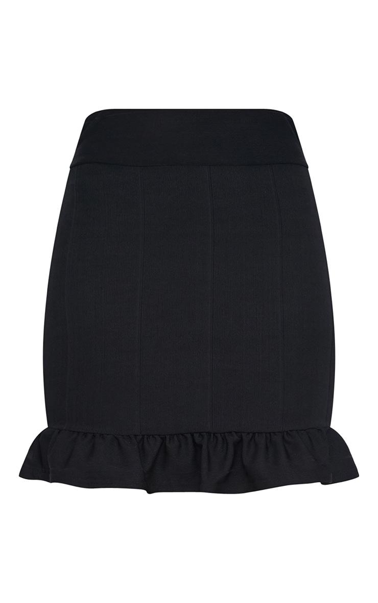 Black Bandage Frill Hem Mini Skirt 3