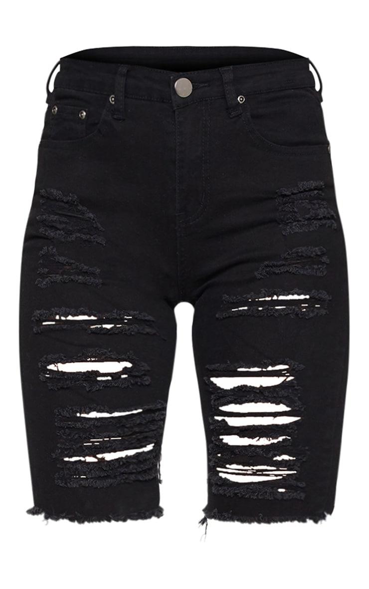 Black 3/4  Skinny Fit Short  3