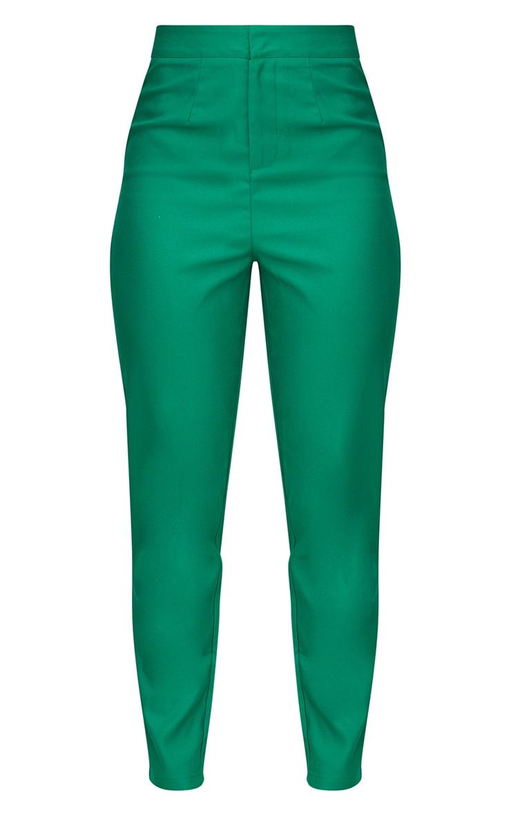 Bright Green Straight Leg Tailored Trouser 3