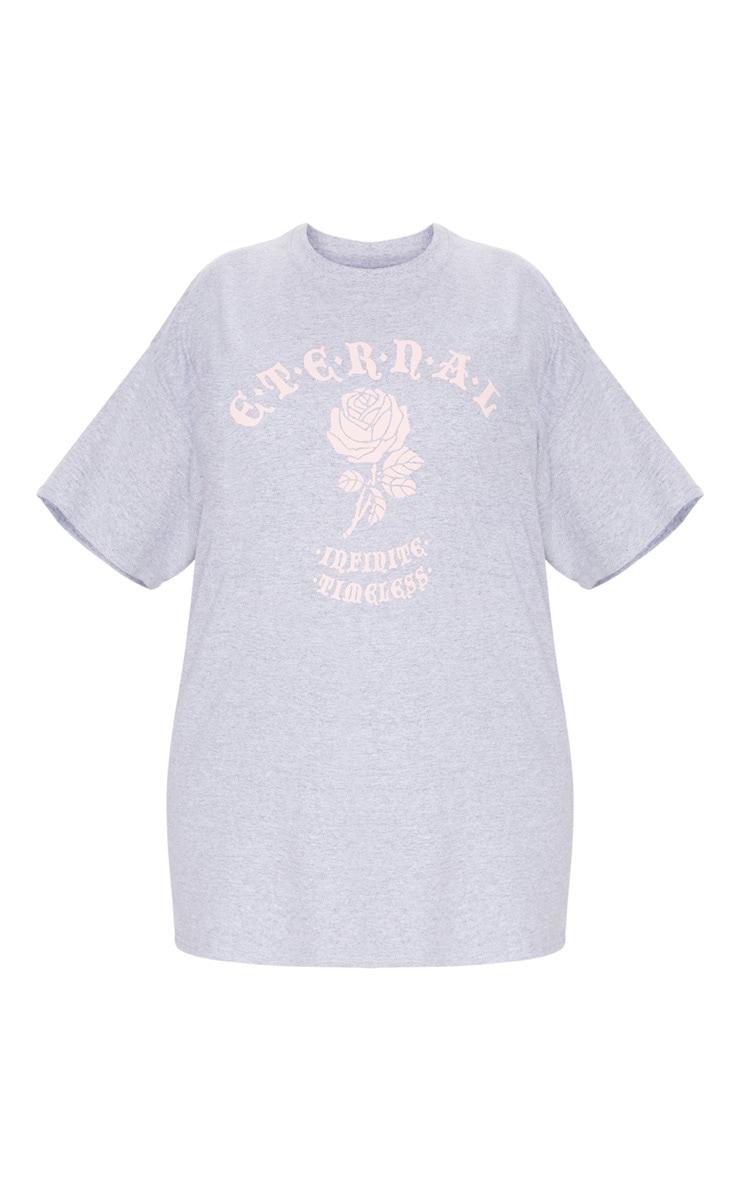 Plus Grey Eternal Print T Shirt 2