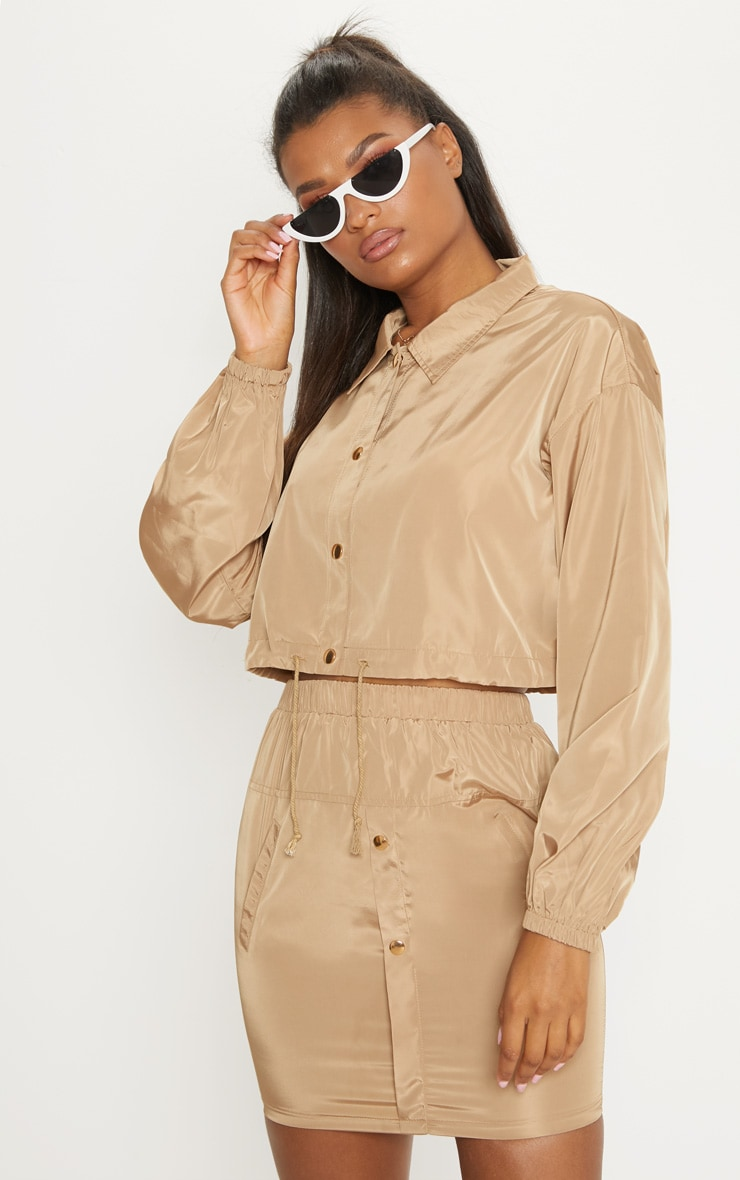 Camel  Shell Suit Jacket  1