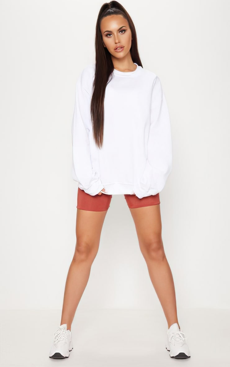 White Ultimate Oversized Sweater 3