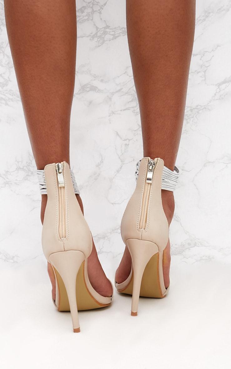 Nude Metallic Cuff Detail Sandal 4