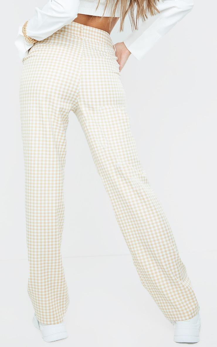 Stone Check Woven Straight Leg Pants 3