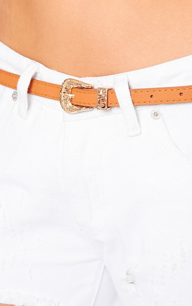 Orla Tan Skinny Belt 5