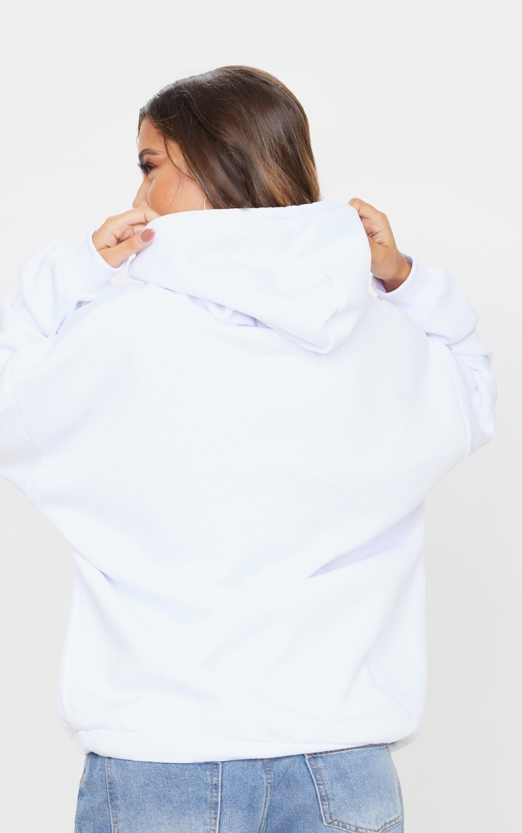 Hoodie oversize blanc classique 2