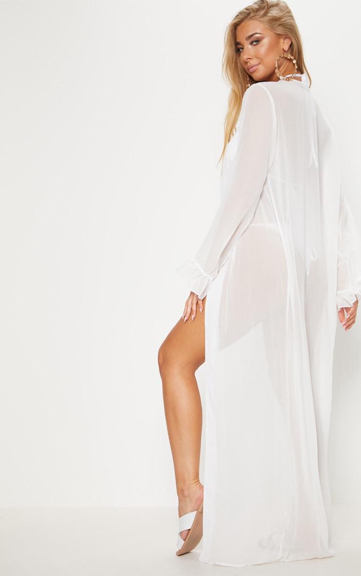 Alassia kimono blanc à volants aux manches 2
