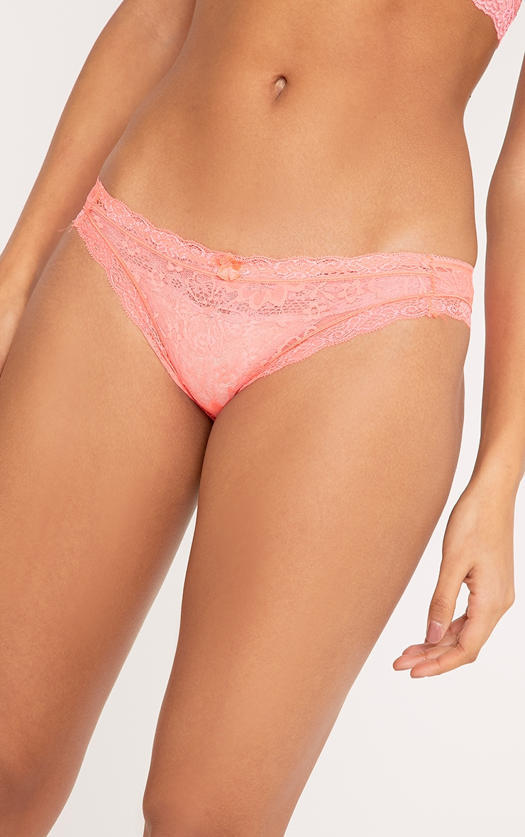 Pandora Coral Lace Knickers 5