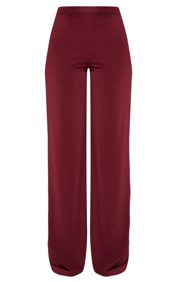 Tall Burgundy Slinky Wide Leg Pants 3