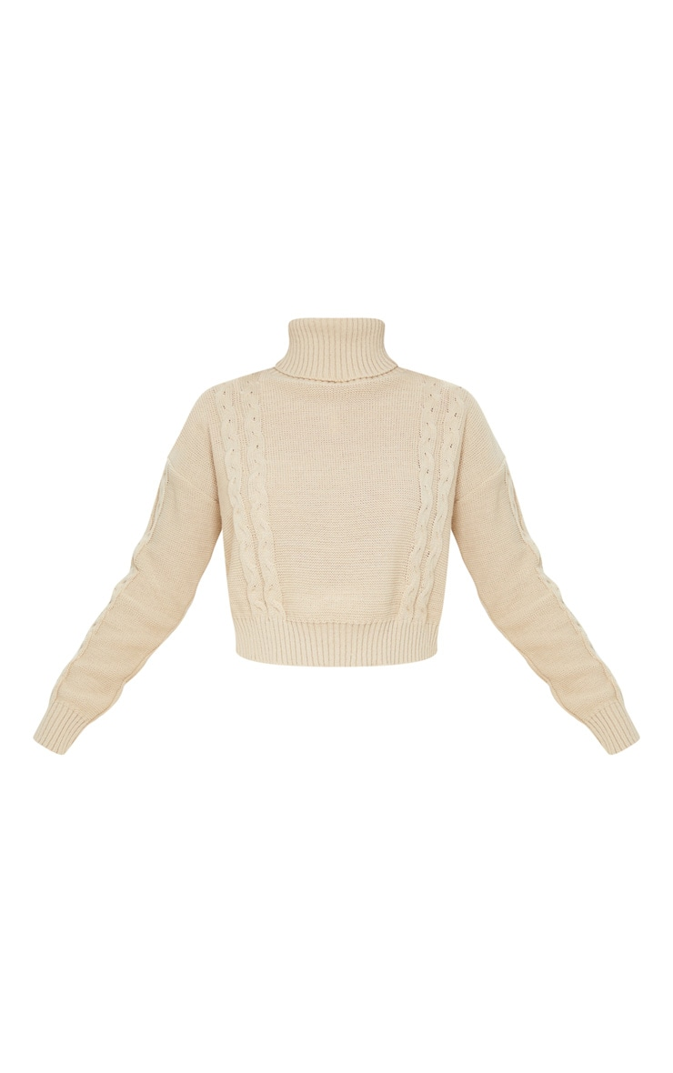 Stone Cable Detail Cropped Sweater 3