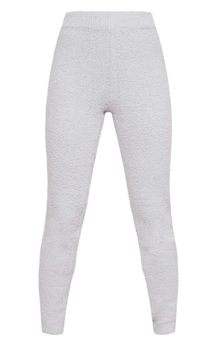Grey Premium Fluffy Knitted Legging 5