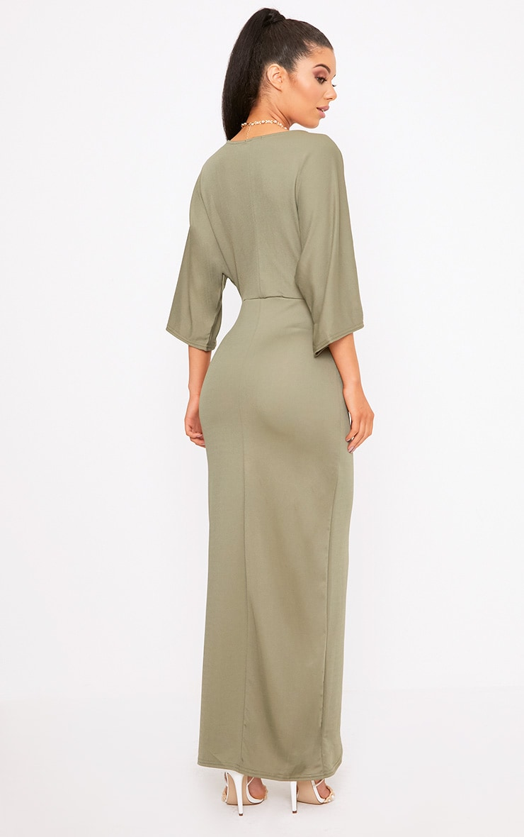 Archer Khaki Cape Maxi Dress 2