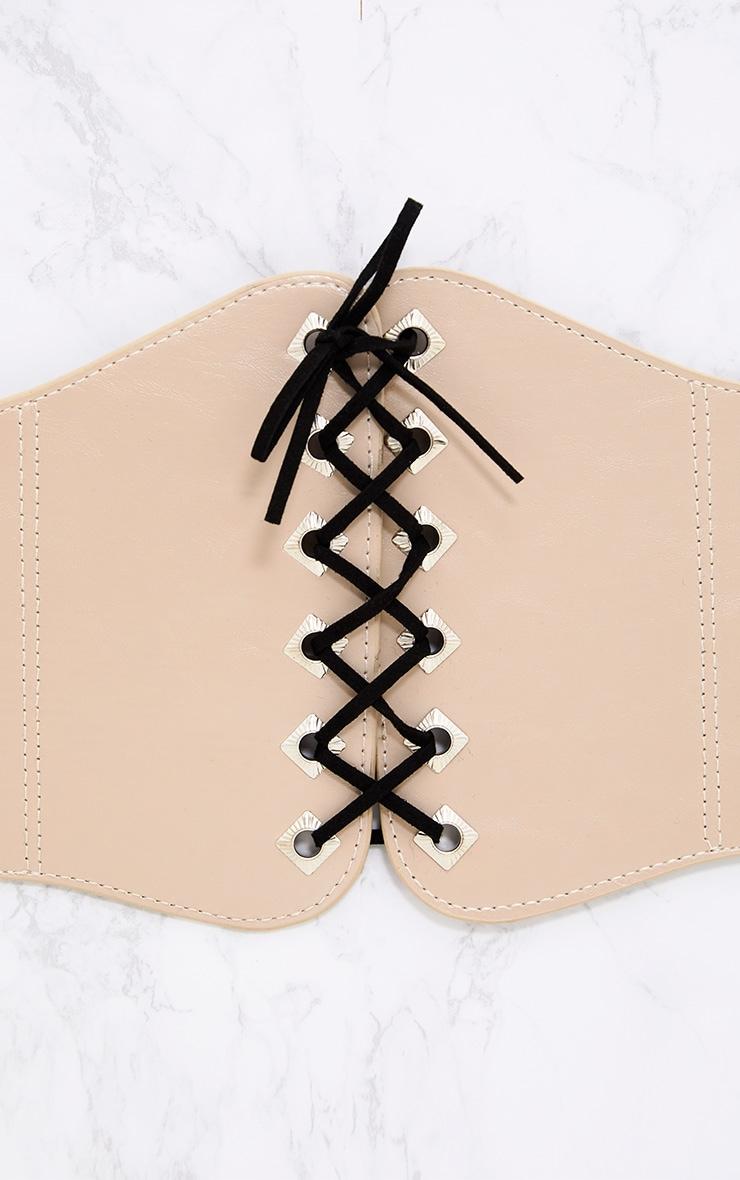 Rita Nude Lace Up Corset Belt 5