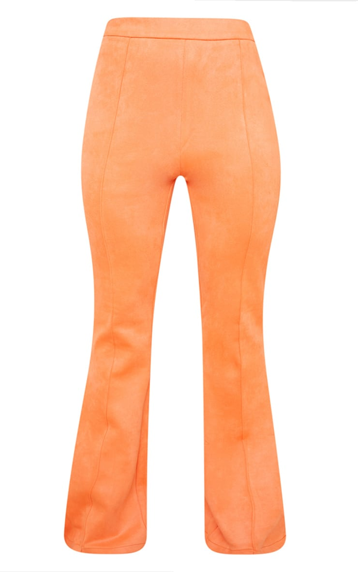 Plus Coral Bonded Suede Flare Pants 5