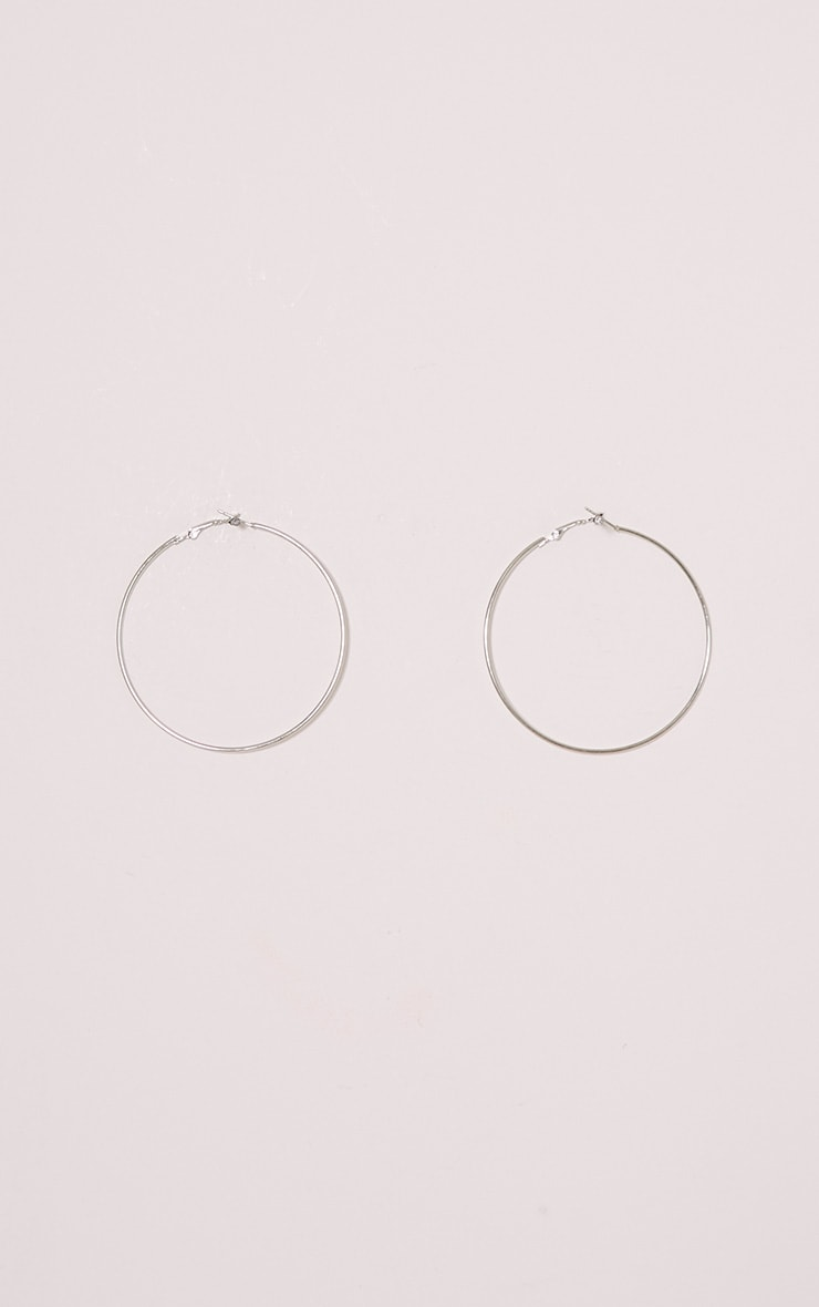 Silver Hoop Earrings 2