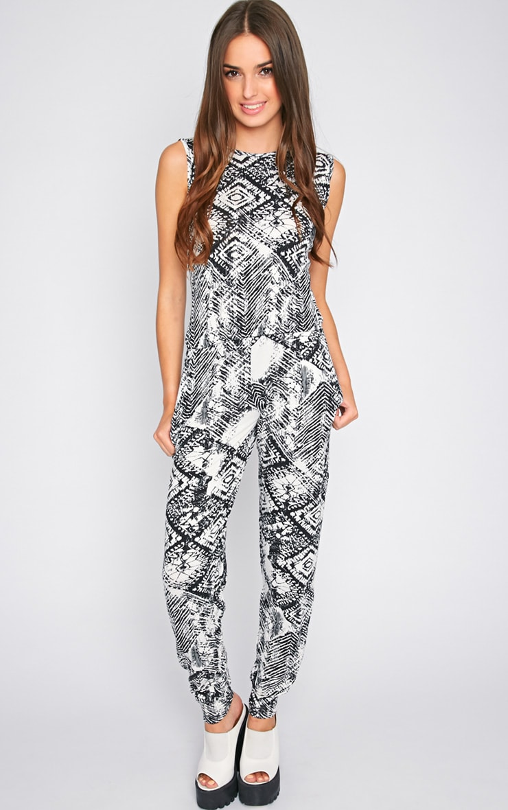 Dalia Black & White Slouch Jumpsuit 3