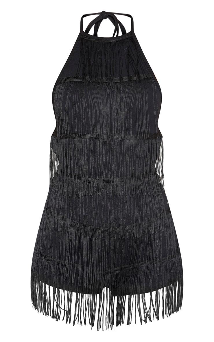Black Tassel Playsuit 3
