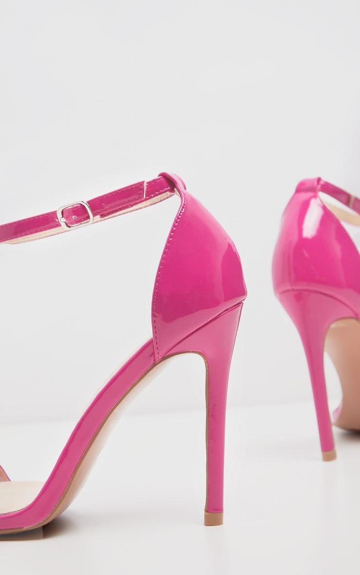 Fuchsia Clover Strap Heeled Sandal 4