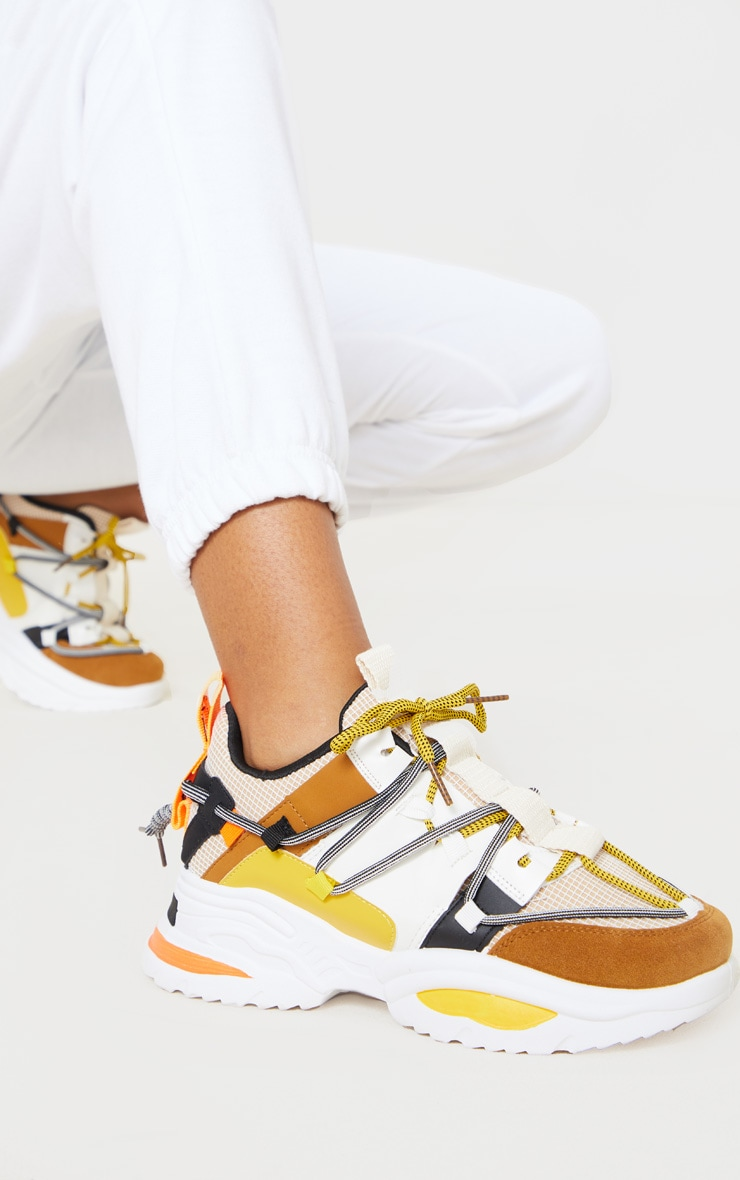 Yellow Multi Chunky Sneakers 1