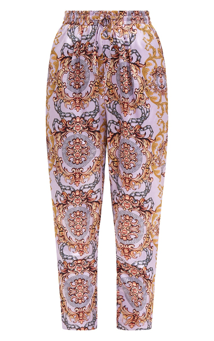Petite Pink Printed Casual Trousers 3