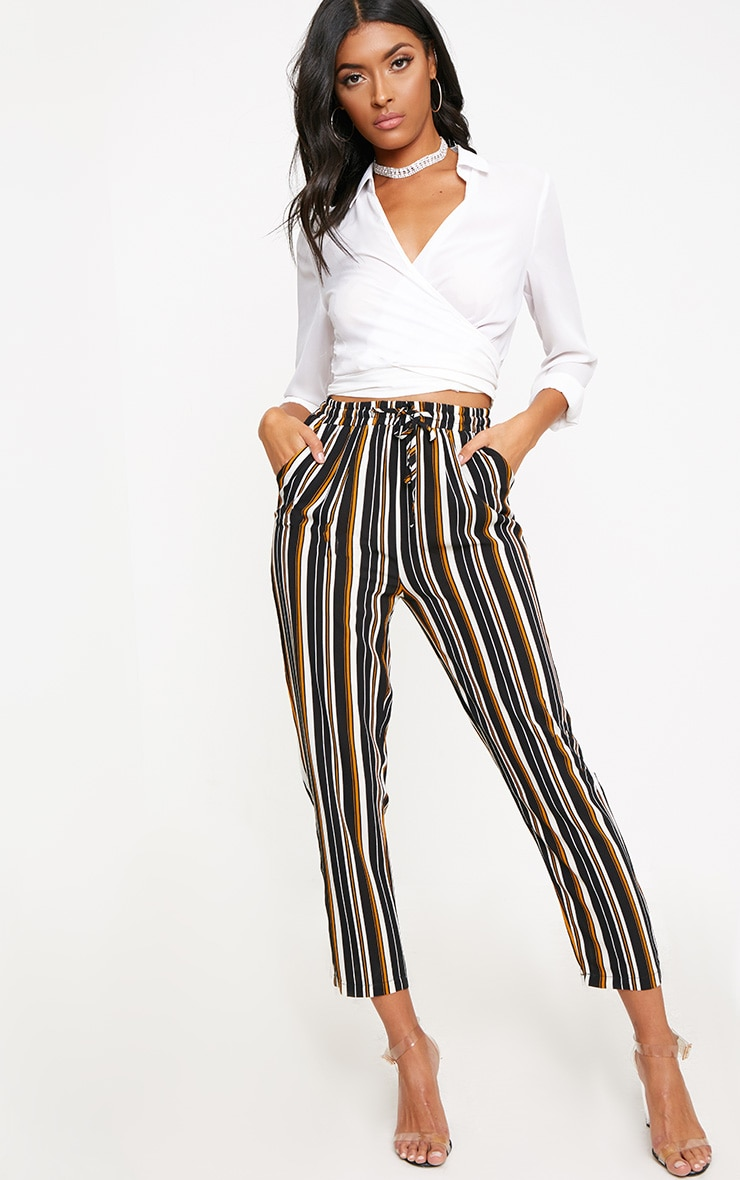 Yellow Stripe Casual Trousers 1