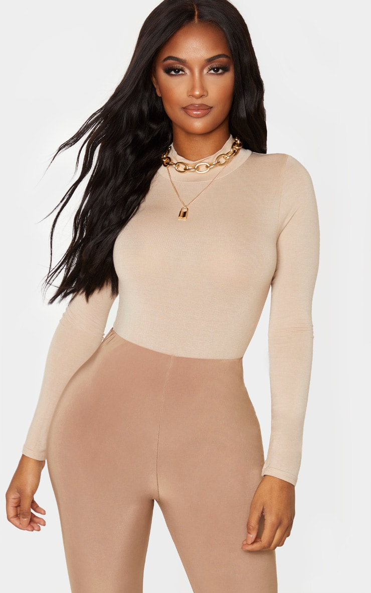 Shape Stone Jersey High Neck High Leg Bodysuit 1
